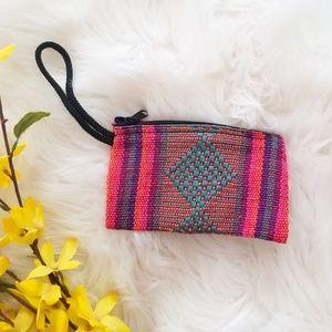 Handbags - Boho Coin Purse with Wrist Strap